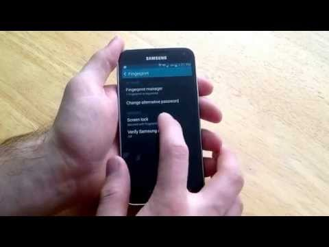 Samsung Galaxy S5 - How to turn fingerprint password on / off.