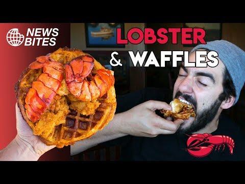 LOBSTER & CHEDDAR BAY WAFFLES AT RED LOBSTER !! | News Bites