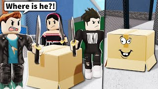 I wore a ROBLOX BOX and NO ONE could find me...