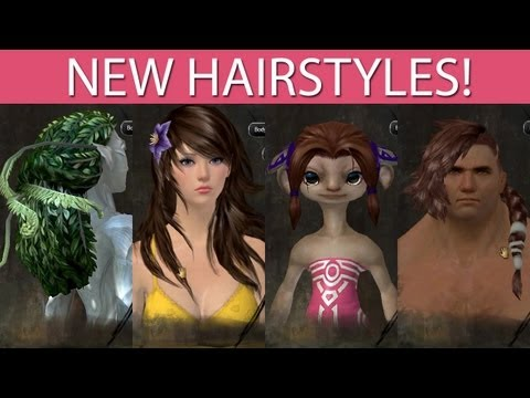 Guild Wars 2 -NEW HAIRSTYLES- October 1st 2013