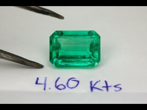 AAA Quality Loose Natural Colombian Emerald Emerald Cut 4.60 Carats