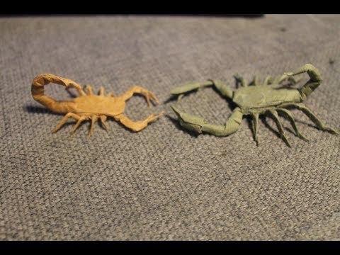 Origami Scorpion Hex Pleated