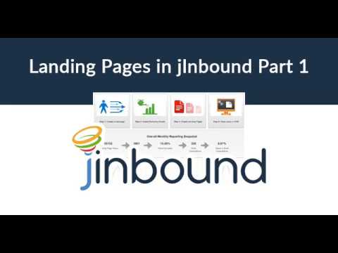 How to Create Landing Pages With jInbound, Part 1