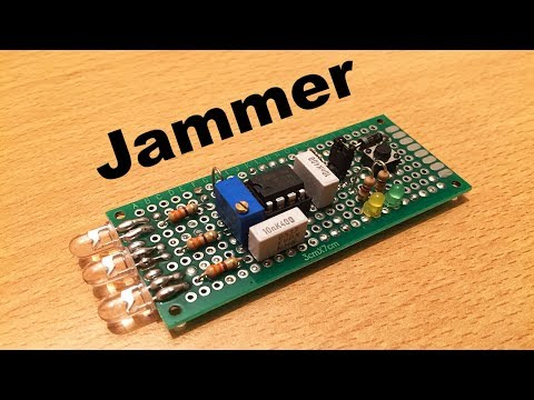 IR Jammer for TV prank with NE555 - (Electric diagram in video) - By STE