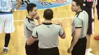 Stephon Marbury victim of a dirty foul in CBA Finals Game 1