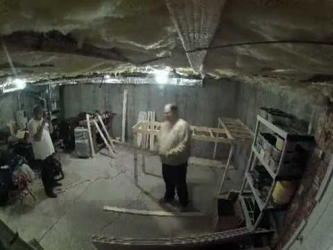 Time Lapse video of Modular Train Layout Benchwork