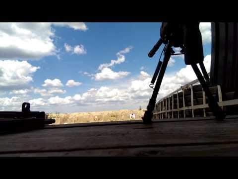 Ar15 magpul under bi-pod and down iron sights
