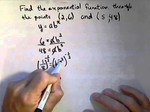Finding an Exponential Function Through 2 Points