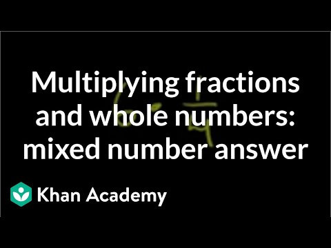 Multiplying fractions and whole numbers: mixed number answer | Pre-Algebra | Khan Academy
