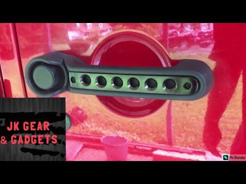 Jeep door handle insert mod