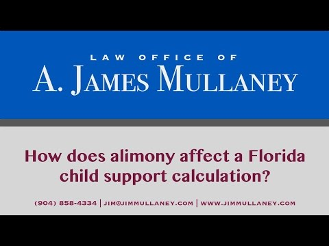 How does alimony affect a Florida child support calculation?