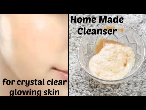 How to Get Crystal Clear Glowing Skin, Spotless Skin Tone with Homemade Cleanser.