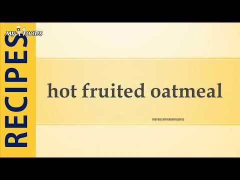 hot fruited oatmeal