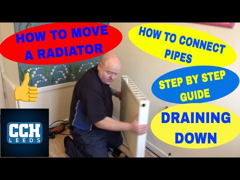 HOW TO MOVE A RADIATOR -  Step by Step Guide - DIY