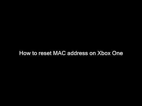 Xbox One - How to clear MAC address