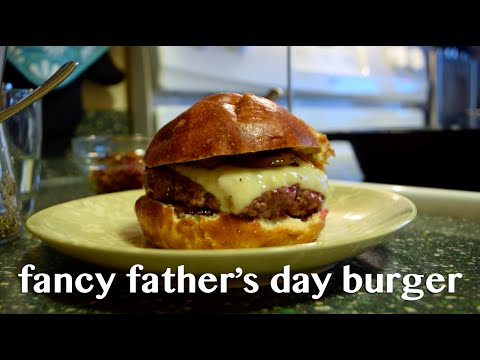 Fancy Burger Recipe for Father's Day