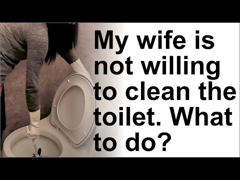 My wife is not willing to clean the toilet. What to do? by Narayani Mataji