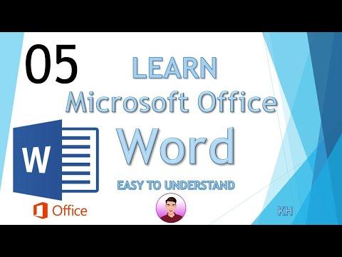 Learn microsoft word 2016 speak khmer #5-រៀនដោយខ្លួនឯង||JHNOY SLOT