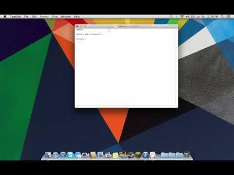 HTML Mac OS X 8 -- Tutorial