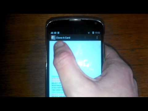 Android app clones a Visa NFC card