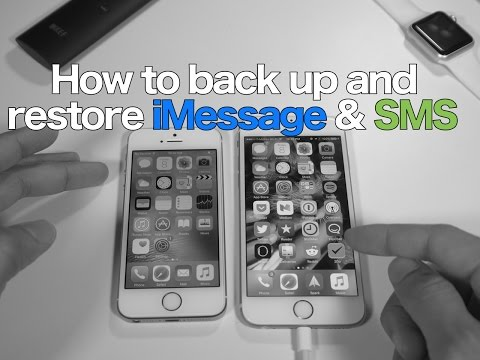 How-To: backup and restore SMS & iMessages on a clean install