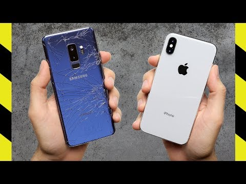 Galaxy S9+ vs. iPhone X Drop Test!