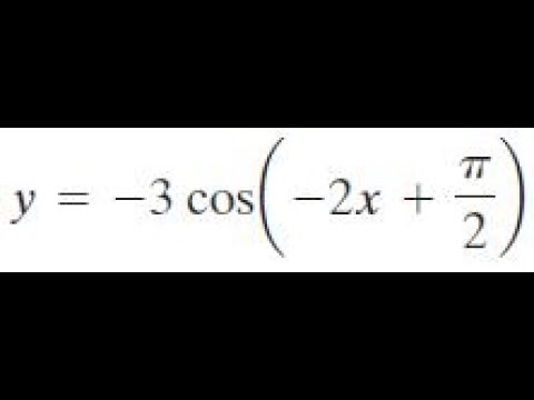 y = -3cos(-2x + pi/2) find the amplitude, period, and phase shift