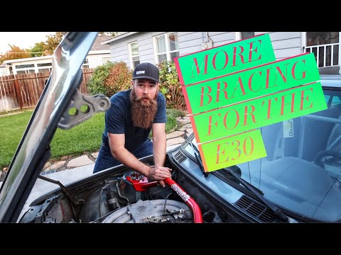 BMW E30 Strut Brace Install Episode #35 BERTY 30 Build