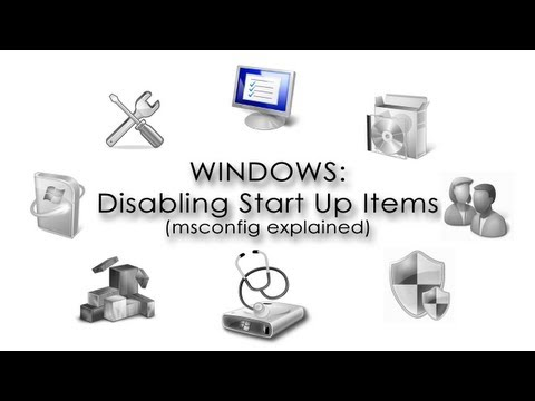 Windows: Disabling Start Up Items (msconfig explained)