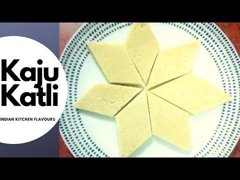 Kaju Katli | Kaju Barfi | Cashew sweets | How to make sweet in 20 mins