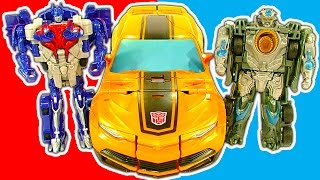 Transformers 1-Step Amazing Robot Cars Trucks Mega Bumblebee Toy Review
