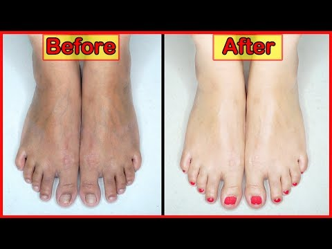 * WINTER CARE * FEET WHITENING SPA PEDICURE AT HOME (with Eng. Subs)