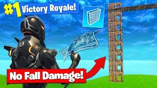 *NEW* NO FALL DAMAGE BUILD TRICK In Fortnite Battle Royale!