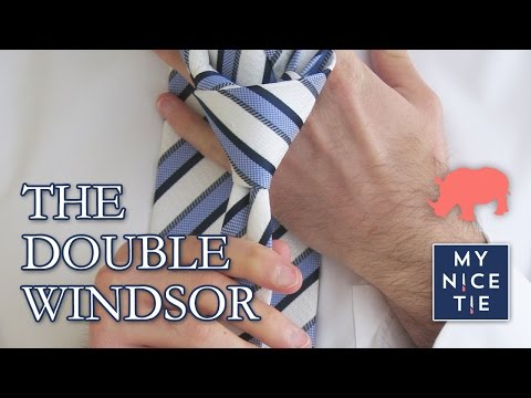 How to Tie a Tie: The BEST Video to Tie a Double Windsor Knot (slow=beginner)