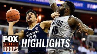 Xavier vs Georgetown | Highlights | FOX COLLEGE HOOPS