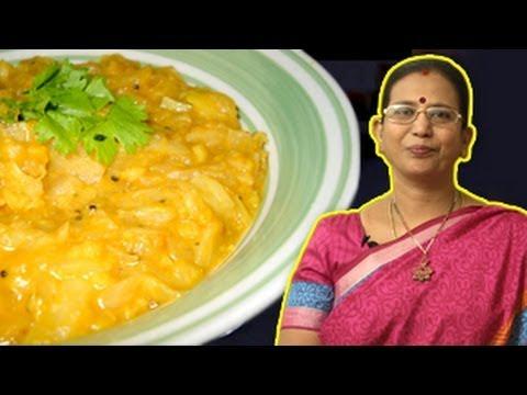 Cabbage Dal   Mallika Badrinath Recipes   Chapathi Side Dishes