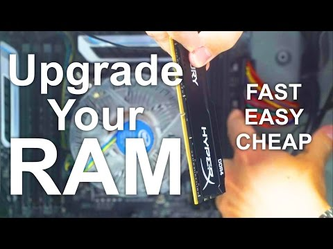 Upgrade your RAM and get a Faster Computer