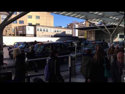 Taxi Rank on Paddington Station in London