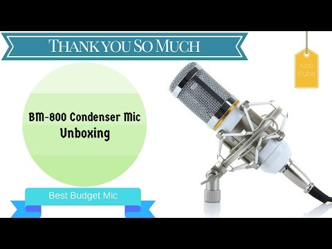 BM-800 Mic Unboxing & First Impression || First Youtube Investment ||