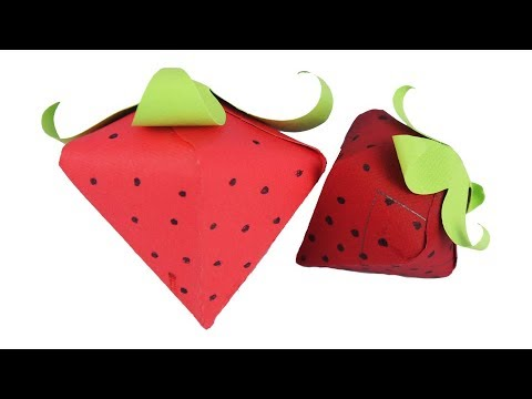 How to Make DIY paper Strawberry - Easy craft Tcraft