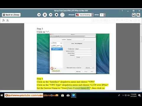 Set up Trust.Zone L2TP/IPSec VPN on Mac OSX