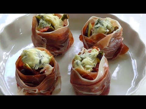CHRISTMAS food FIGS Cheese Parma ham How to make SIMPLE QUICK recipe