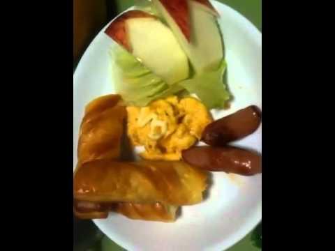 simple meat salad N scramble egg 4 breakfast
