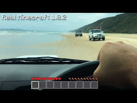 Real Life Minecraft - BEACH DRIVING & CAMPING