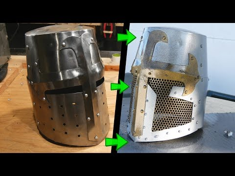 Turning a Cheapie Crusader Helmet into ✞The APOCRUSADER Helm✞