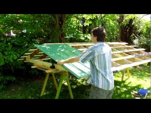 Modular shed part 2: Sheet metal roofing