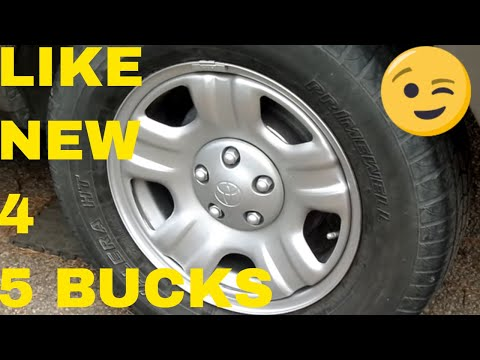 DIY Paint your Wheels to look new CHEAP ,all products and tips in description,with links
