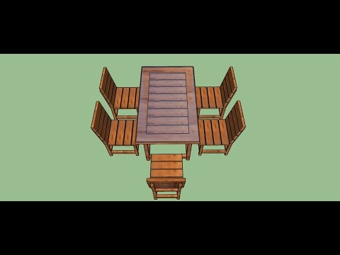 How to make dining table and chairs in Sketchup