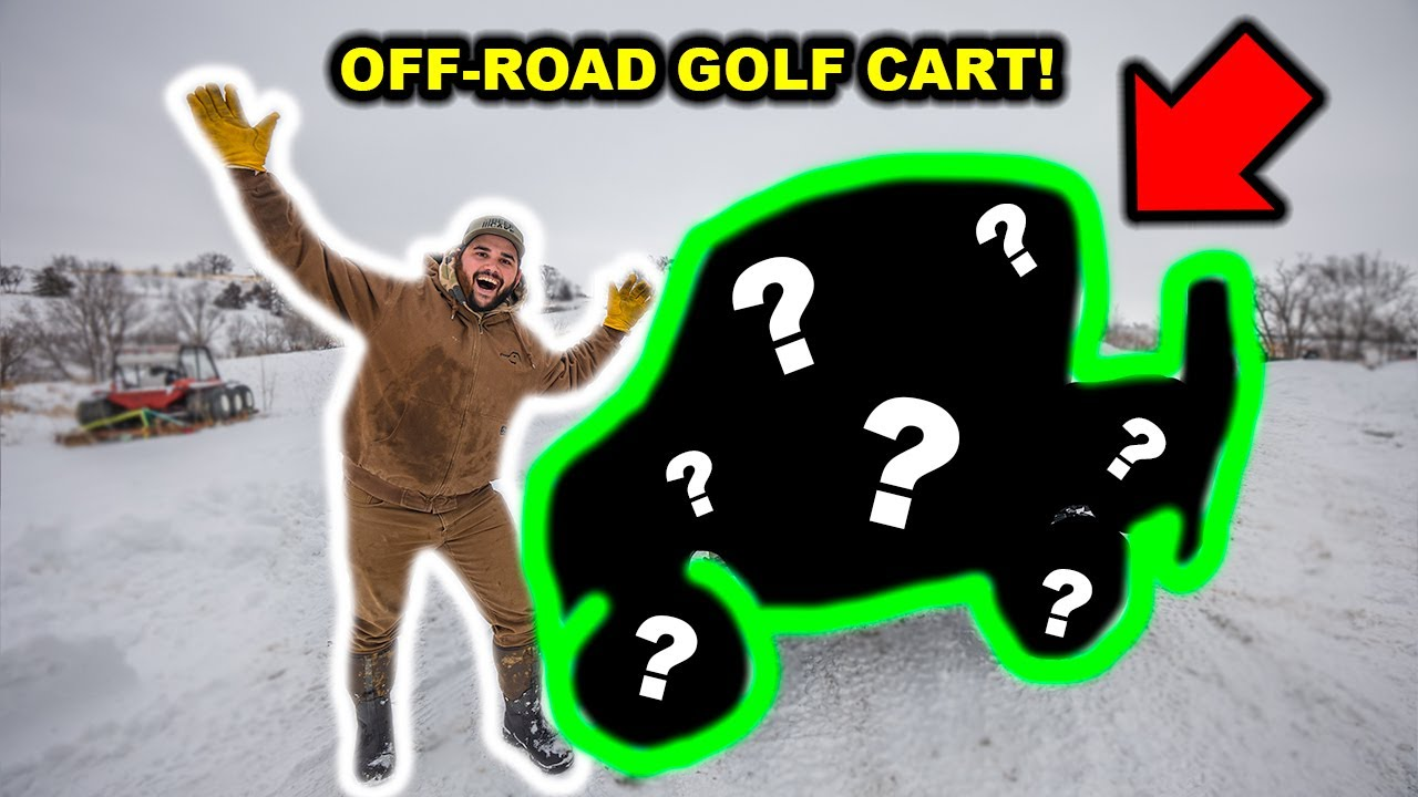 I Bought a RARE OFF-ROAD GOLF CART for My BACKYARD!!! (Will It Get Stuck?)