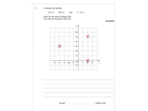 AQA Further Maths GCSE 2016 Paper 2 - Q1 - Coordinates
